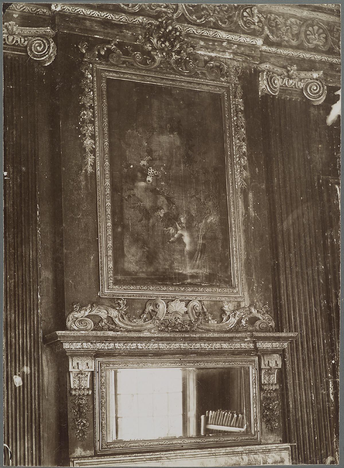 s-Gravenhage: Noordeinde 140; Interieur schilderij en spiegel in ...