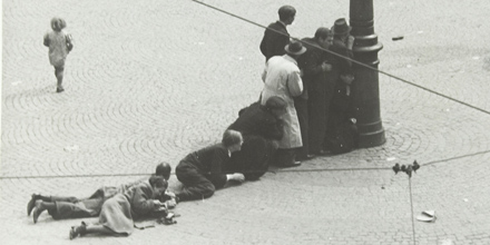 Shooting at the Dam in Amsterdam, 7 May 1945