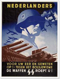 Poster calling men to fight for the Waffen SS