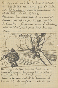 Letter with sketch of 'The sower'