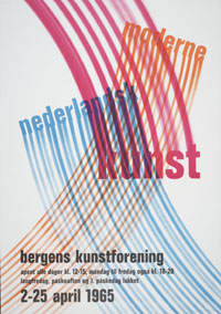 Poster for the exhibition 'Moderne Nederlandsk Kunst', Bergens Kunstforening, 2-25 april 1965 (design by Jurriaan Schrofer)