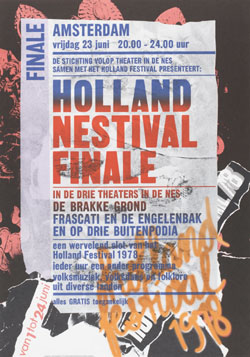 Poster 'Holland Nestival Finale' for the Holland Festival, 1978 (design by Anthon Beeke, Total Design)