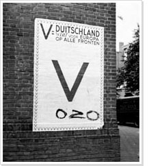 German poster with OZO (Orange will overcome) written on it