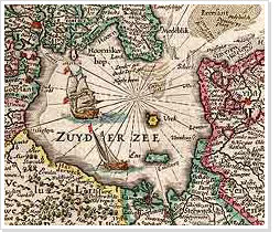 Detail of a map of the Netherlands