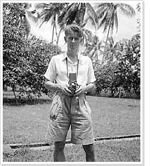Self-portrait of the photographer in Indonesia (1947)