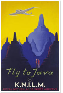 J. Lavies, Fly to Java by K.N.I.L.M., 1938