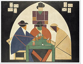 Th. van Doesburg, De kaartspelers, 1916-1917